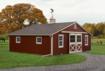 Horse Barns / From run-in sheds, shed row barns and lean-to buildings to the largest two-story monitor barns, Bayhorse has quality Amish-made buildings for all your equine needs.