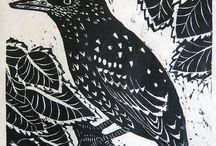 Prints - lino prints