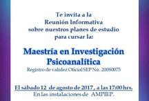 Maestría en Psicoanálisis / Información sobre la Maestría en Investigación Psicoanalítica del Instituto Sigmund Freud de la Asociación Mexicana para la Práctica, Investigación y Enseñanza del Psicoanálisis, A.C.