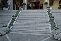Στολισμός γάμου με ελιά και τριαντάφυλλο. / Ο στολισμός του γάμου στην εκκλησία με ελιά και τριαντάφυλλο στο Άγιο Χριστόφορο Δαφνίου Χαϊδαρίου.