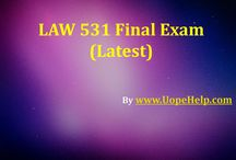 UOP Business Law 531 Final Exam Question Answers / Examinations are easy to pass with flying colors with instant help available for UOP Business Law 531 Final Exam Question Answers in just a click.