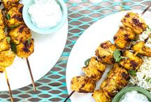 Grilled Curry Chicken Kebabs Recipe