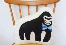 Cushions / Funky animal cushions by Little Dandies