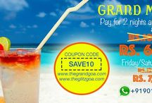 Grand Monsoon In Goa / GRAND MONSOON in GOA! Stay in 4 star luxury hotel for 3 nights and pay for only 2 nights! Use code SAVE10 and Book on bit.ly/GrandGoaDream for special discounts.