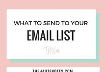EMAIL LIST TIPS / A selection of articles on how to set up a mailing list and how to use it to your advantage to gain more email list subscribers.