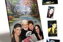 Pet and People Portraits / Hand painted portrait paintings created by http://www.lovecustomart.com