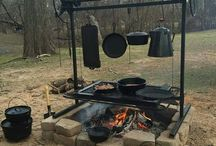 Outdoor camp kitchen
