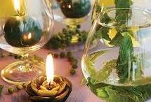Arranjos com velas