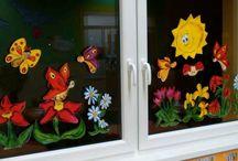 letni vyzdoba okna
