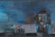 DER GEHEIME - Andreas Küchler | Malerei & Grafik / Andreas Küchler starb 2001 völlig unerwartet im Alter von 48 Jahren. Seine Werke leuchten, aber sie sind nicht hell. Man sieht Sonne, Mond und Sterne; Kreis, Linie, Fläche, Pfeil, Buchstaben, Wortteile. Man sieht Häuser, Fenster, Gesichter. Man sieht Frau und Mann und Clowns. Und häufig ein Schiff. Das große und das kleine Universum. Die großen und die kleinen Fragen. Eine einzigartige malerische Handschrift, die ihre Vorbilder weder verleugnet noch zitiert. Zeitlos und berührend.