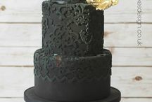Cake Art ... Black and Gold / All things elegant / by Sugar Gourmande Lou