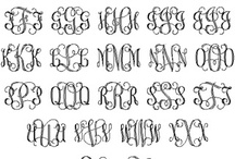 Black Pen: Alphabet - Letters -Monograms ao. / by Chalotte Ivalou Justice Overgård