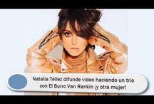 Natalia Téllez difunde video haciendo un trío con El Burro Van Rankin ¡y otra mujer!