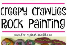 Rock Painting & Story Stones / All kinds of rock painting ideas, including story stones, games and crafts!   #rockpainting #rockgames #rockactivities
