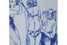 Azul / since 2014 I make a drawing everyday with blue ink on paper , about letter size