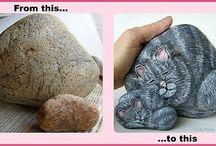 Katze stein