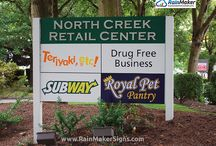 Post and panel signs by rainmaker signs