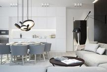 Have a smart kitchen in white and gray
