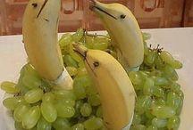 vegetable and fruit dekoration