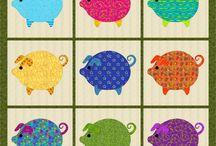 pigs appliquéd