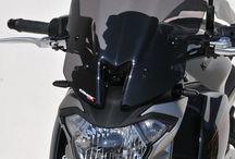 Kawasaki Z 650 2017 by Ermax Design / Ermax accessories and screen