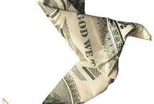 Origami~$$$~Art / Money Folded into Art / by Jody Prunier
