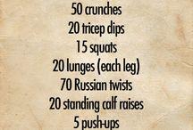 H E A L T H // Workouts / Home workouts