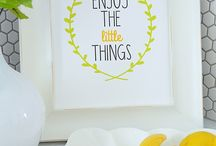 Printables / Happy prints that will cheer up any room!