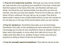 Prayer for Your Boyfriend