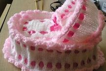 knitted crib set