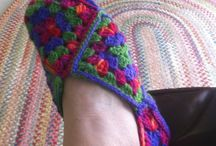 CROCHETED / KNITTED SLIPPERS / DIFFERENT IDEAS