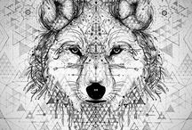Wolf based artwork