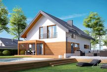 HomeKONCEPT 20 | Projekt domu / HomeKONCEPT-20 to energooszczędna wersja projektu HomeKONCEPT-12, z inną propozycją wykończenia elewacji. Jest to bardzo przytulny i stylowy dom. Zastosowane w nim rozwiązania – prosta bryła, dwuspadowy dach pokryty blachą tytanowo-cynkową oraz optymalna powierzchnia – zadowolą Inwestorów poszukujących domu o niskim koszcie budowy.