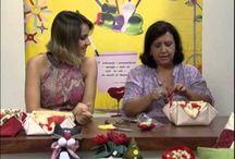Videos com passo a passo / Vídeos com peças passo a passo. Aulas no programa mulher.com com Tati camargo
