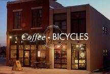 Hybrid bike cafe
