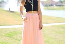 Crop Top Maxi Skirt