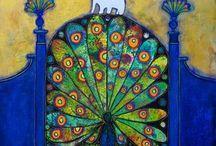 Art   animals - peacocks