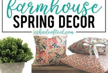 the spring decor / home decor inspiration for spring, DIY projects and ideas for spring