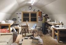 pottery studio / work space