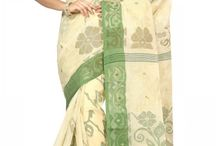 Bengal Hand-loom Tant Sarees / Bengal Hand-loom Cotton Tant Sarees distinguished by its lightness and transparency.