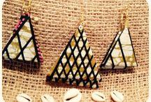 SOL DiTuja African jewelry-African fabric print-bijoux avec tissu africain