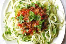 Groente pasta (spaghetti )