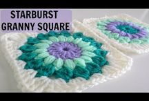 Crochet starburst granny square