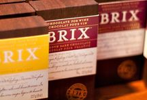 Chocolate for Wine Lifestyle / Brix Chocolate bars, bites, gift sets shown in random shots, recipes and more.