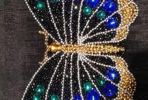 Papillons perles
