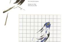 haft krzyżykowy - wzory ptaki