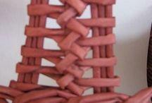 pletení z papíru ucha
