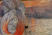 Knitting_club_o2 Our Hand dyed yarn / Пряжа собственного ручного крашения / В пряже ручного крашения соединены мотивы искусства, природы, впечатления. Из пряжи по мотивам работ великих художников можно без кистей и красок создавать картины петелькам - пряжа все сделает сама)