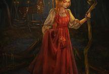 Русские сказки, образы, иллюстрации