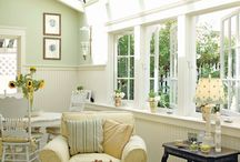 home decorating:sunrooms / sunrooms and conservatories, and green housees that are living spaces / by Jen Rizzo